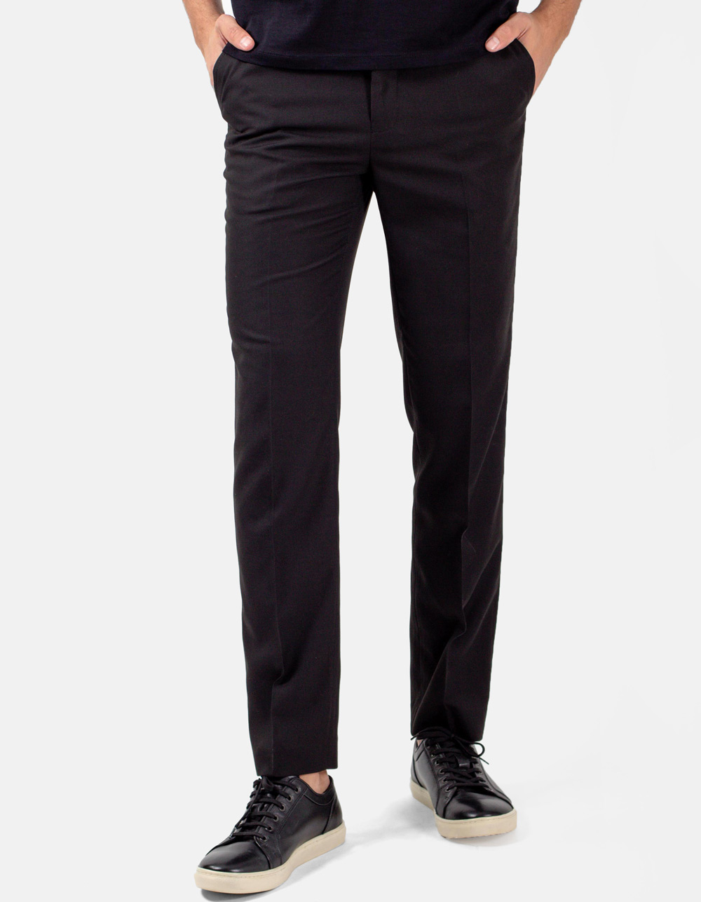 Black plain trousers