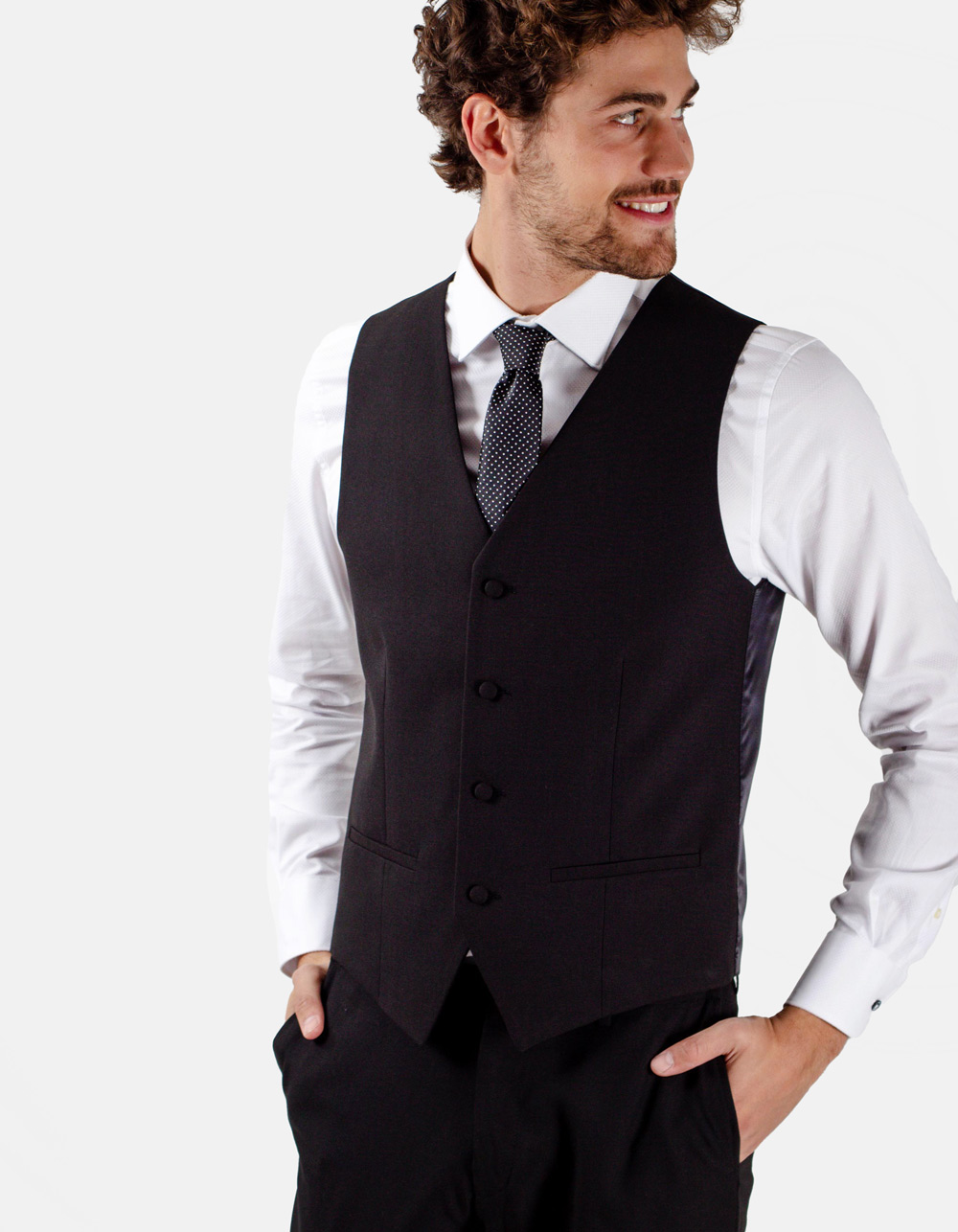 Black dress waistcoat