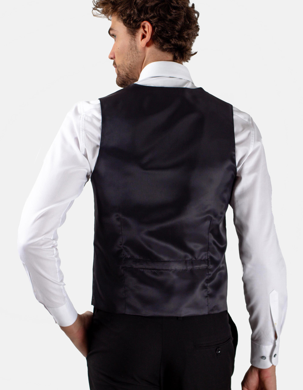 Black dress waistcoat - Backside