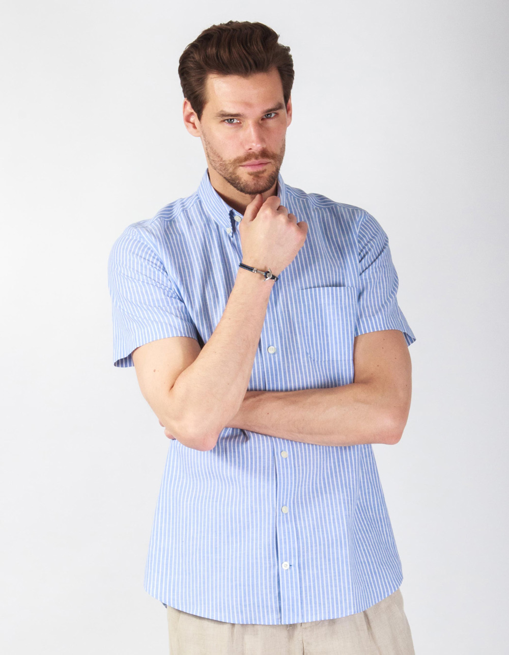 Striped shirt short sleeve