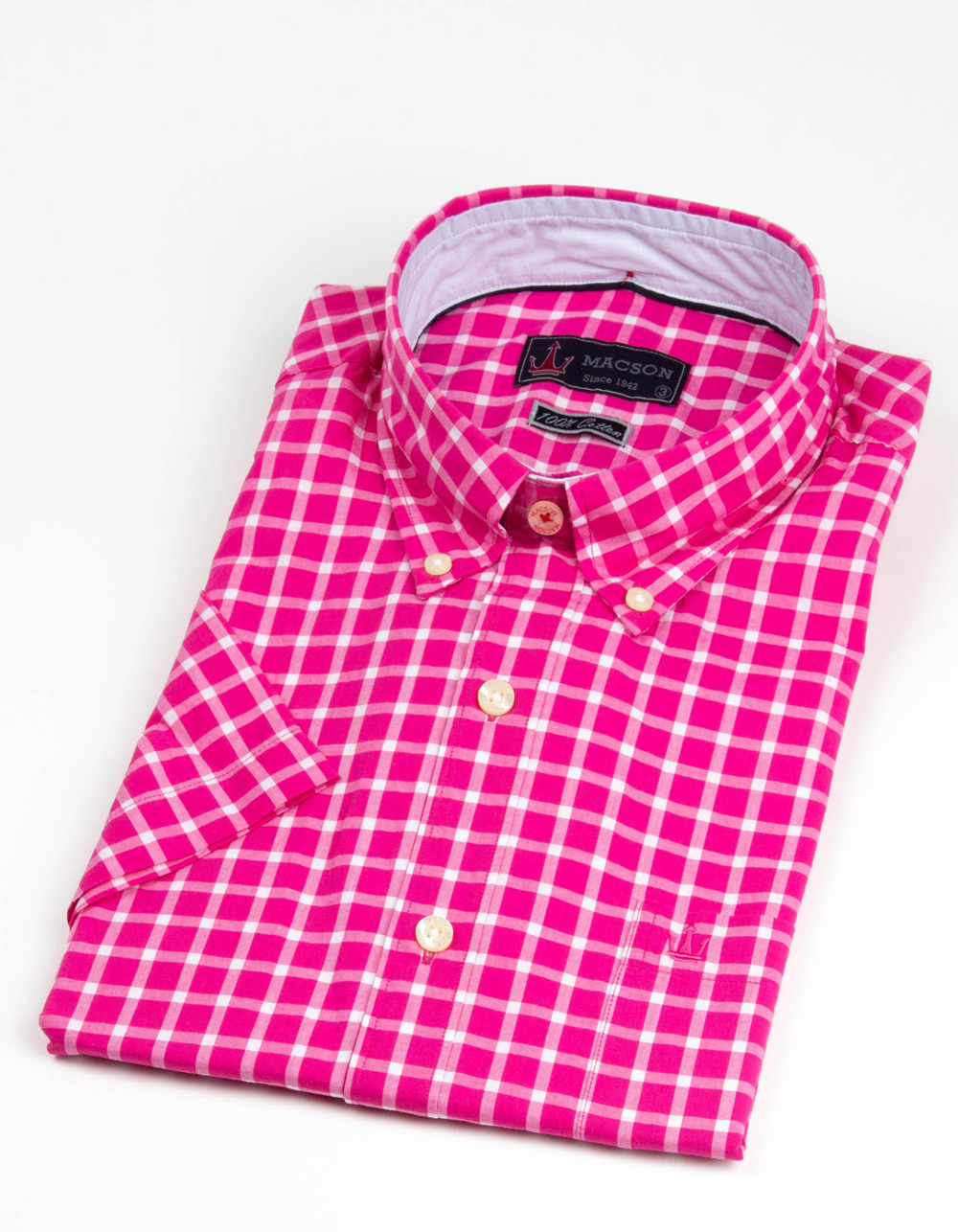 Pink large check shirt