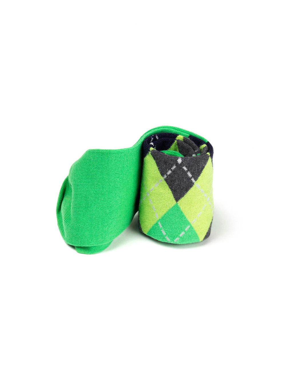 Green rhombi socks - Backside