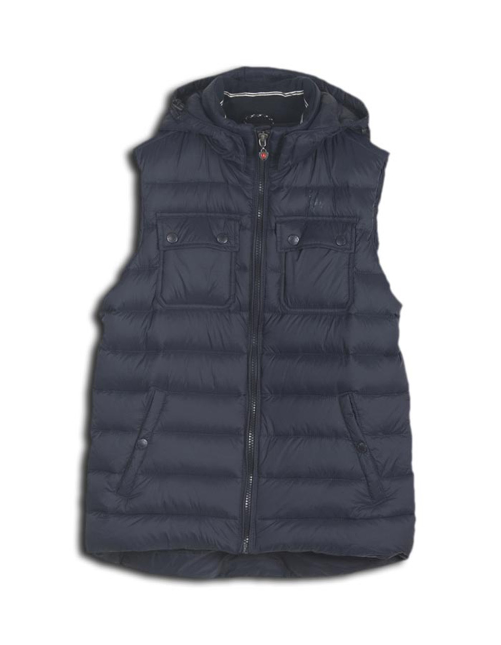 Navy quilted vest - Backside