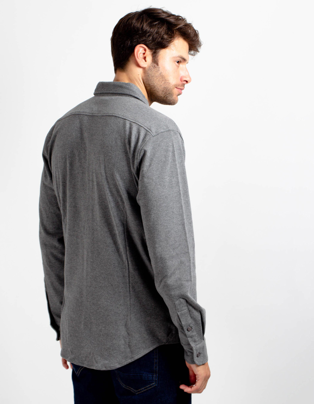 Camisa de punto gris - Backside