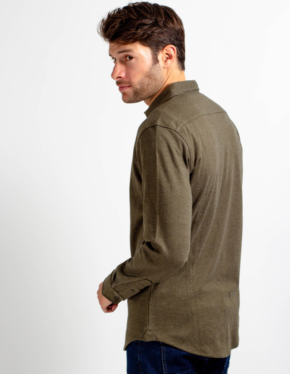 Camisa de punto verde - Backside