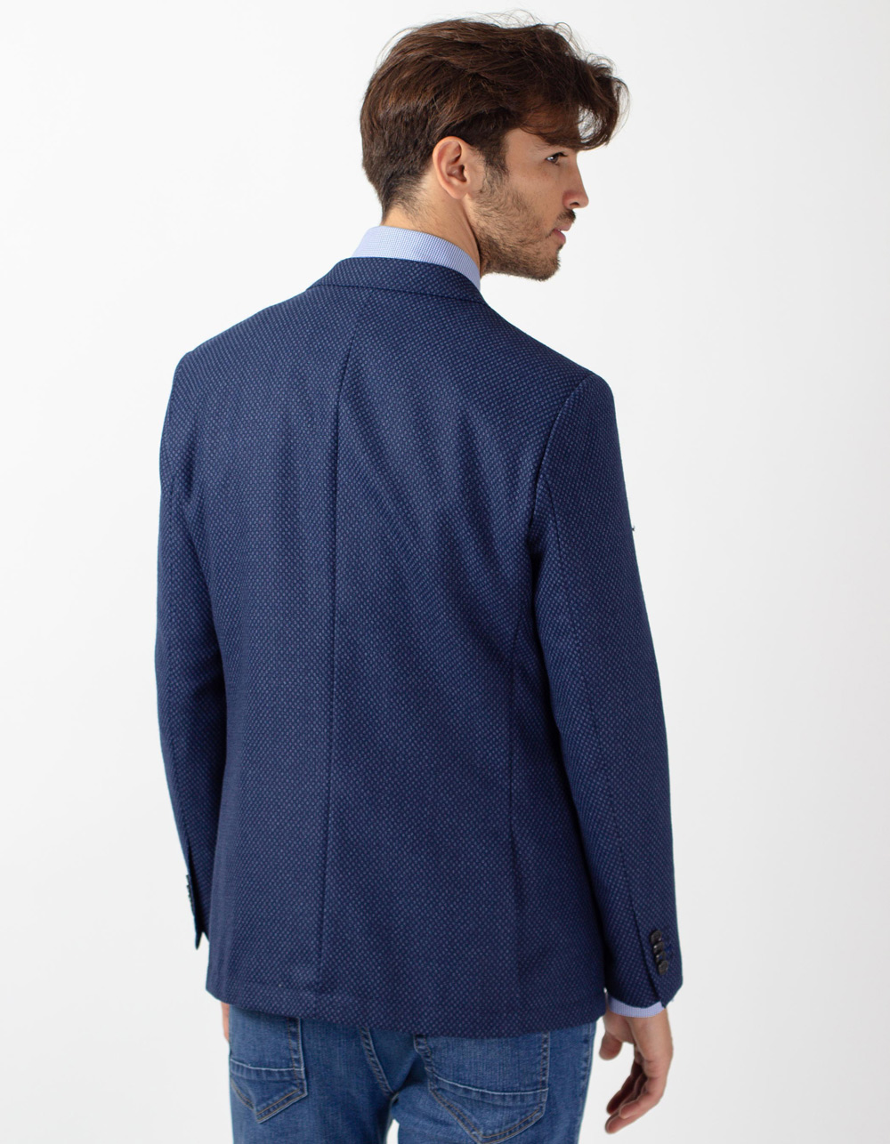 Navy blue wool blazer - Backside