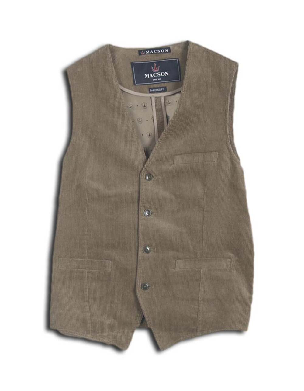 Green courduroy waistcoat - Backside