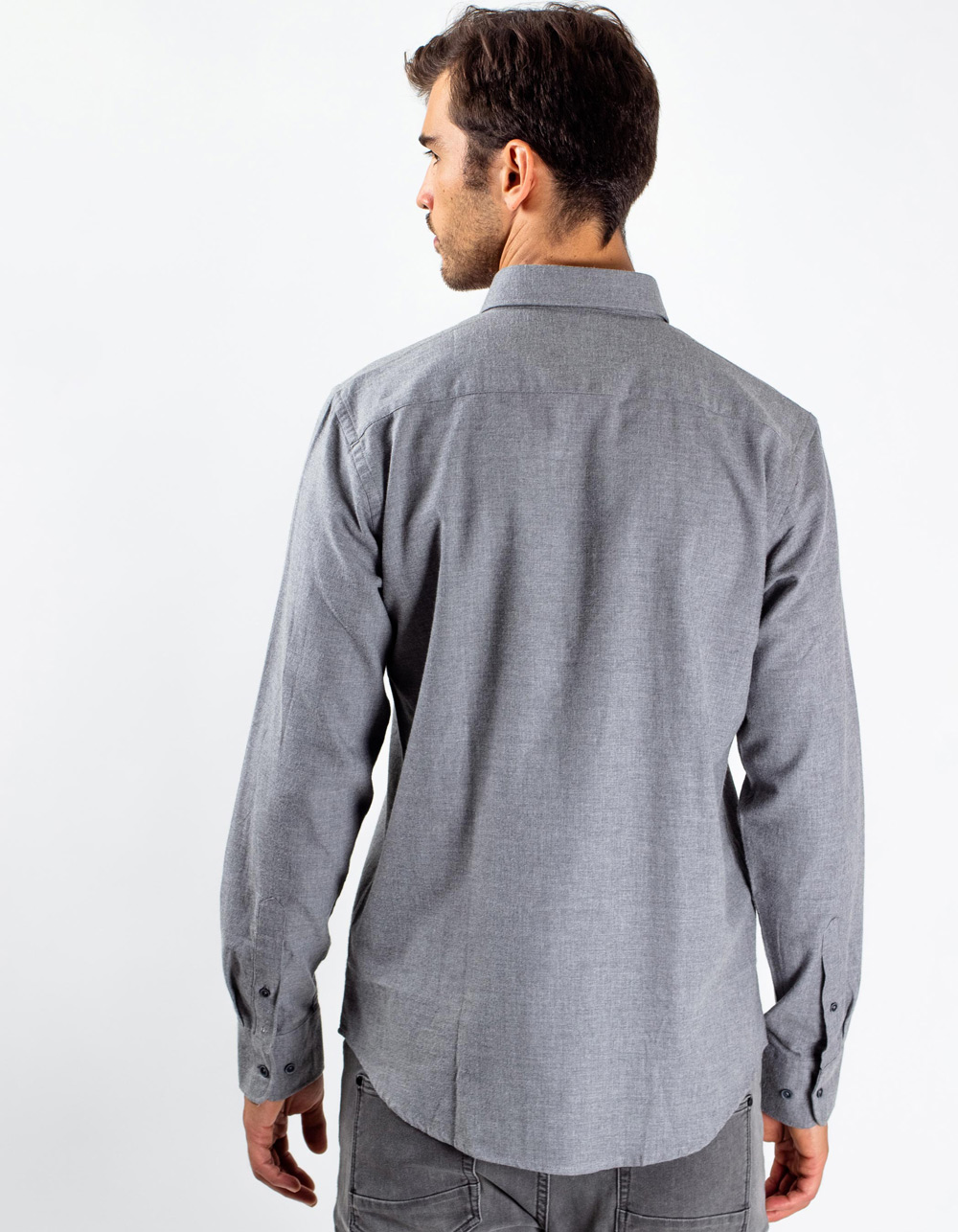 Grey herringbone shirt - Backside