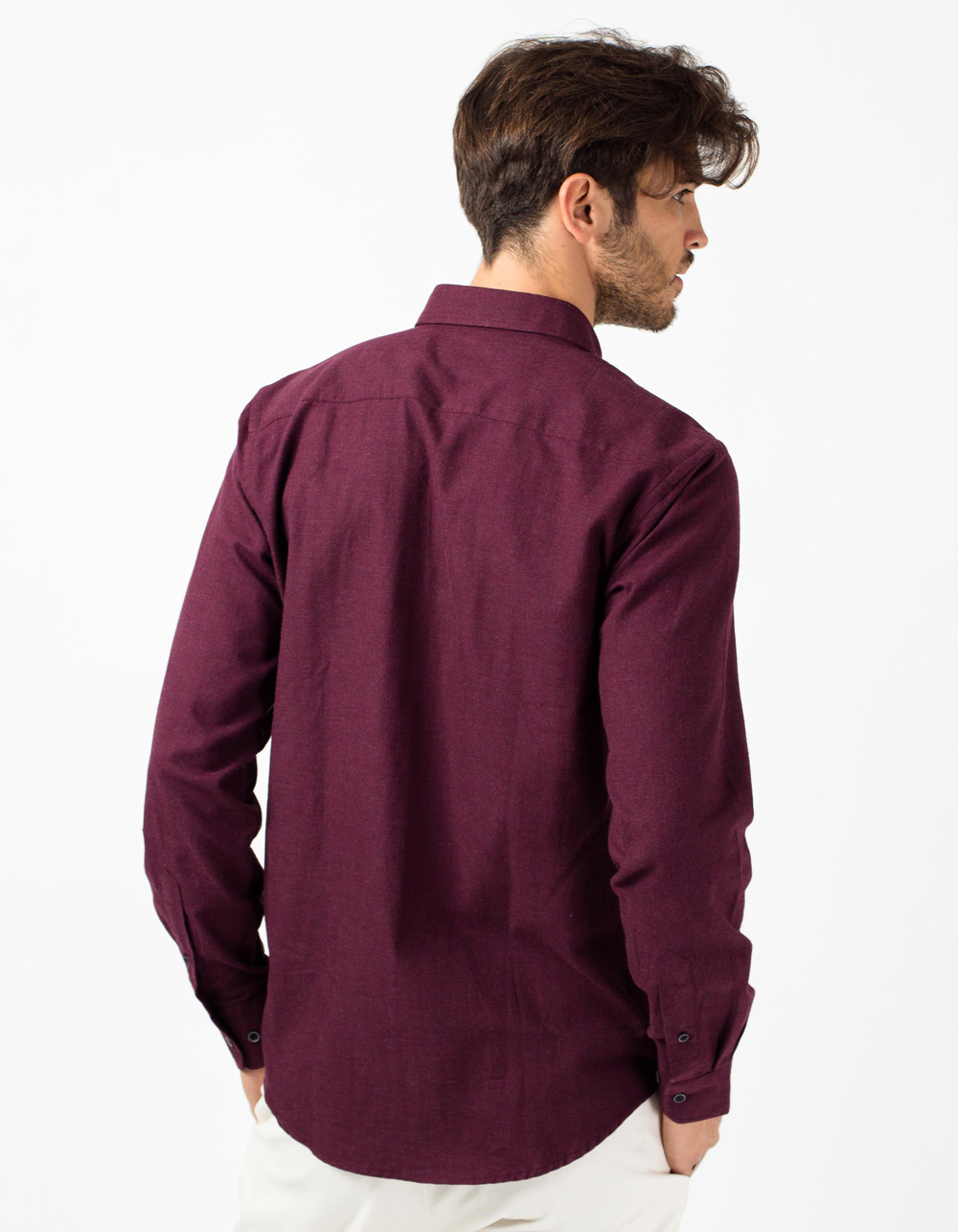 Maroon herringbone shirt - Backside