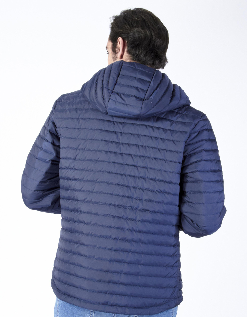 Blue hood piumino - Backside