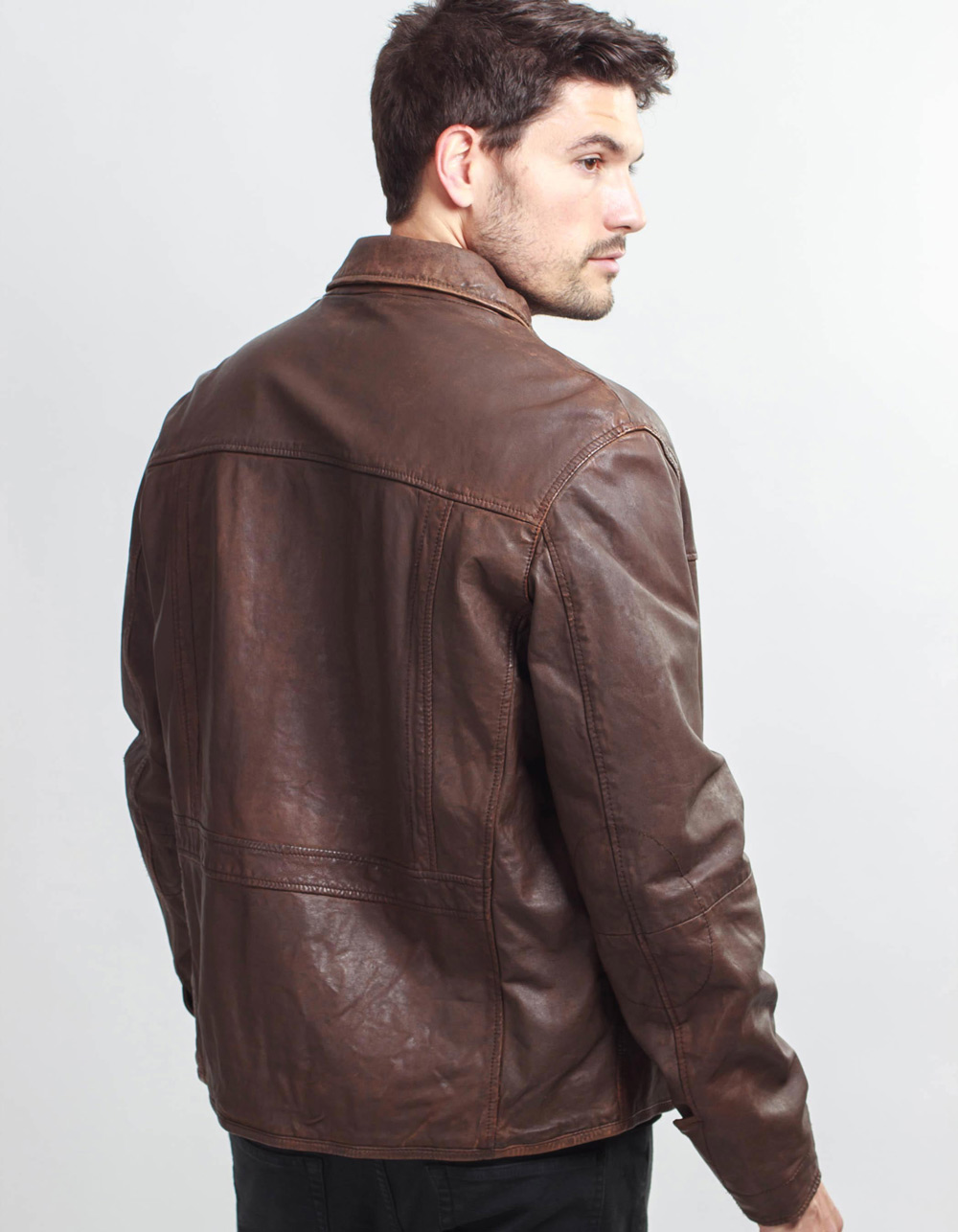 Faux leather jacket - Backside