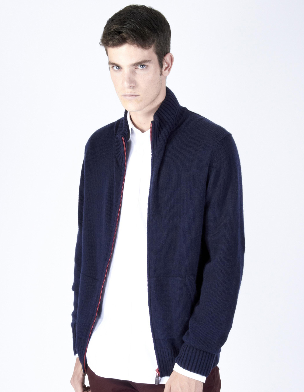Navy zip blue jacket
