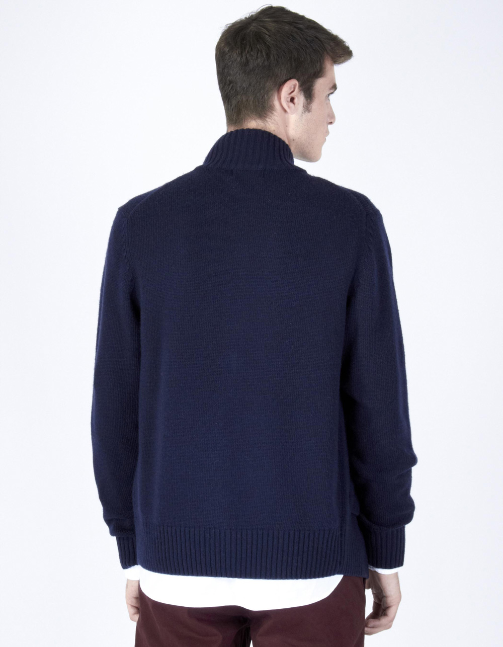 Navy zip blue jacket - Backside