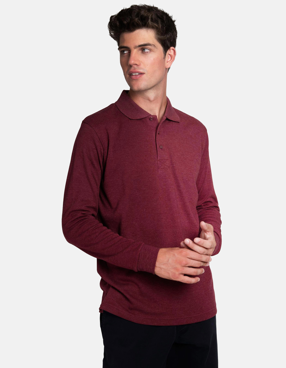 Maroon washed polo shirt