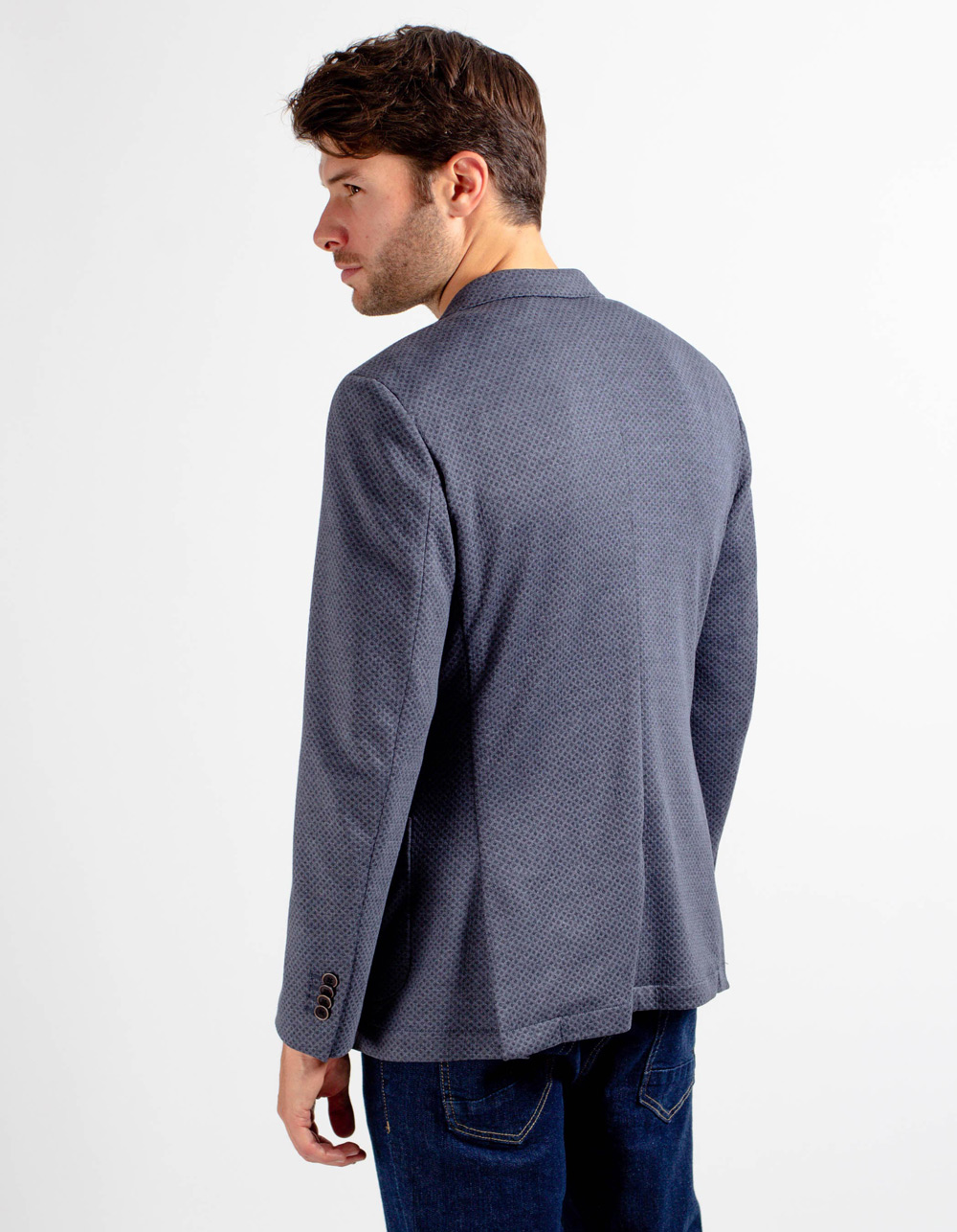 Grey pattern blazer - Backside