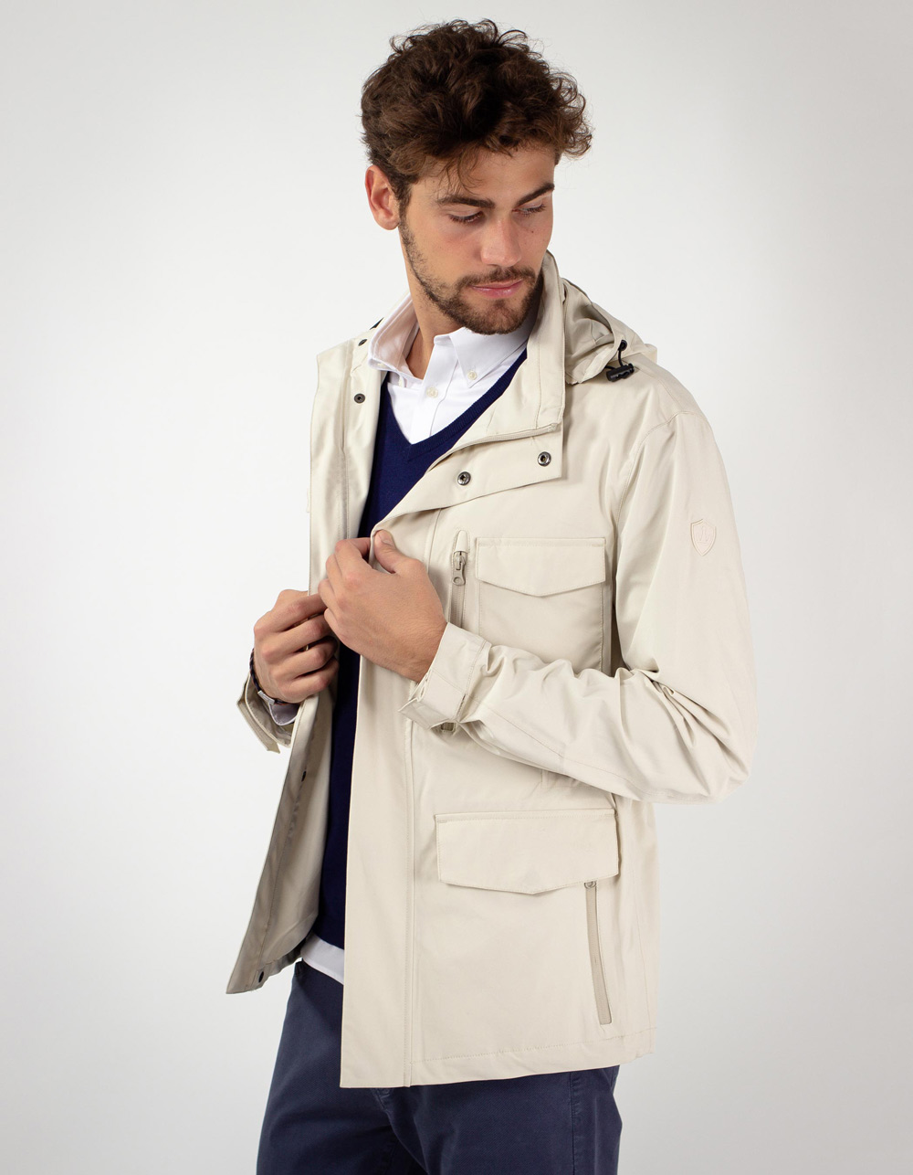 Parka sport with pockets