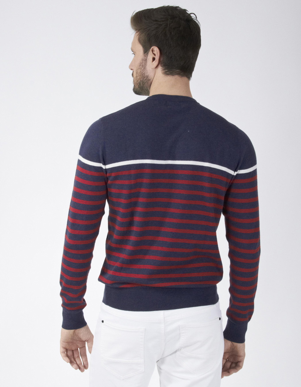 Jersey de rayas azul marino - Backside