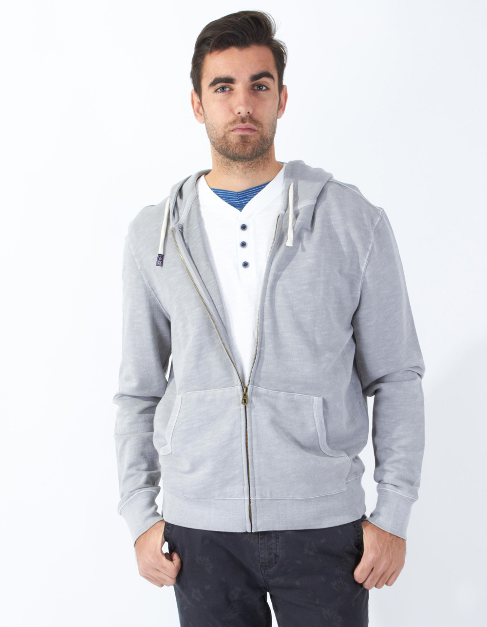 Grey hood sweatshirt - Backside