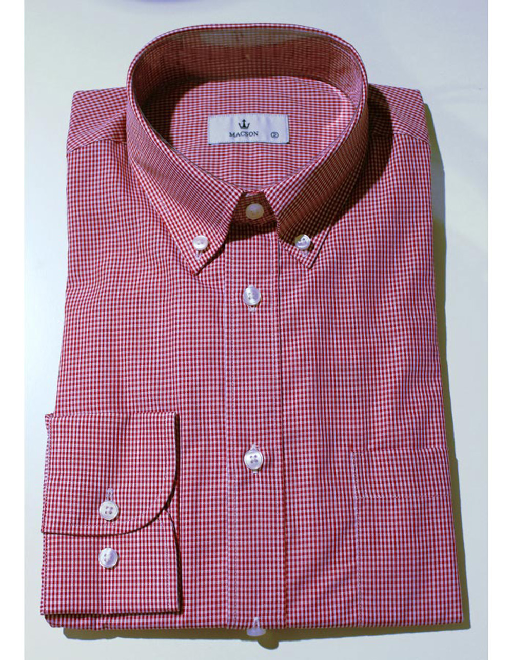 Red White  checked cotton shirt
