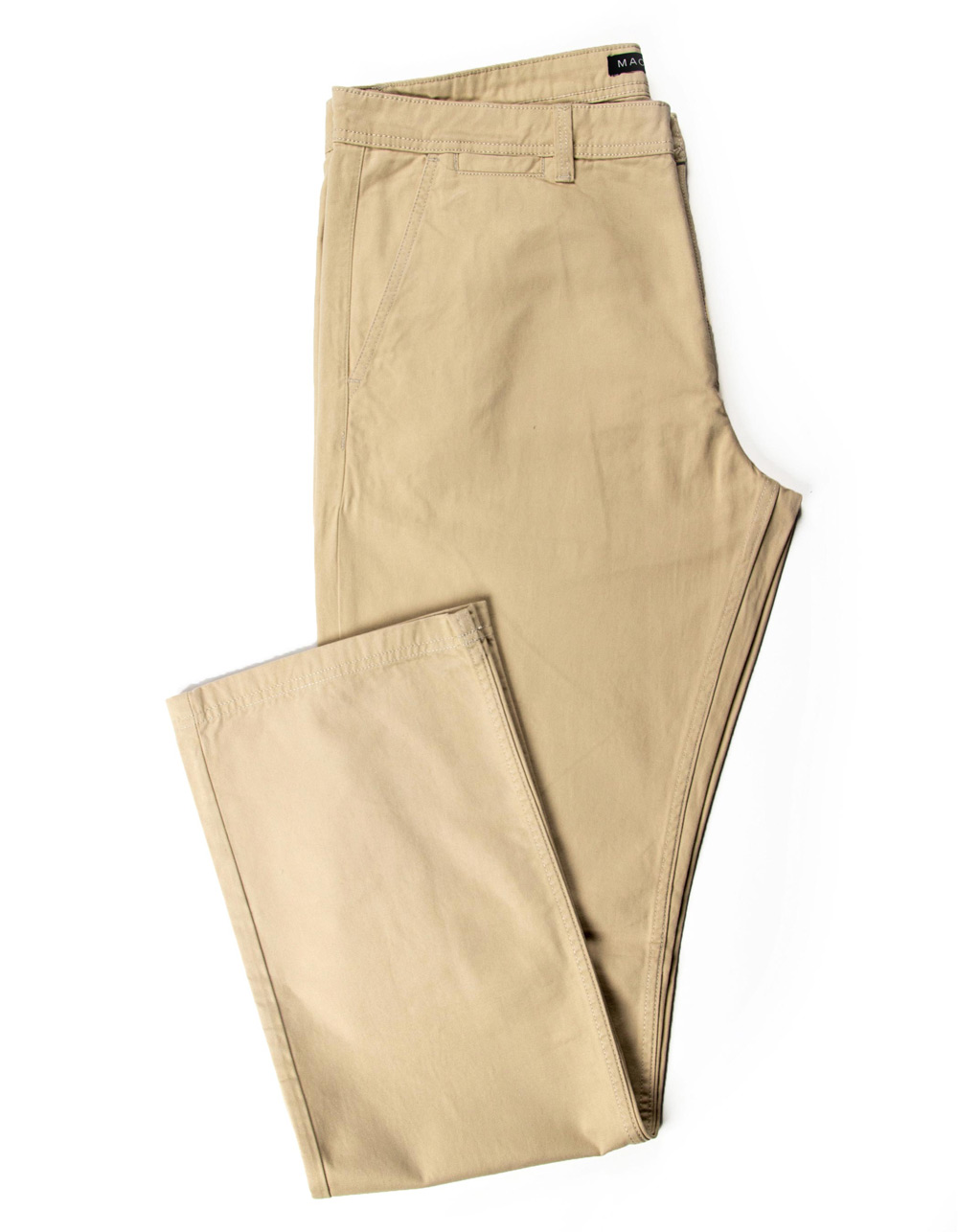 Beige blue chinos trousers
