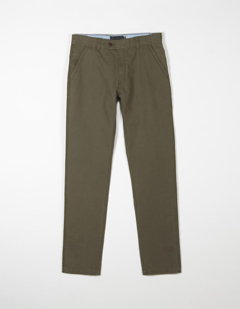 Kaki blue chinos trousers