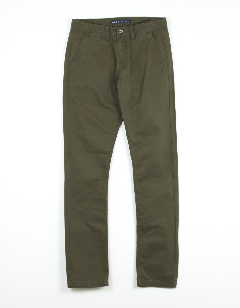 Kaki blue chinos trousers - Backside