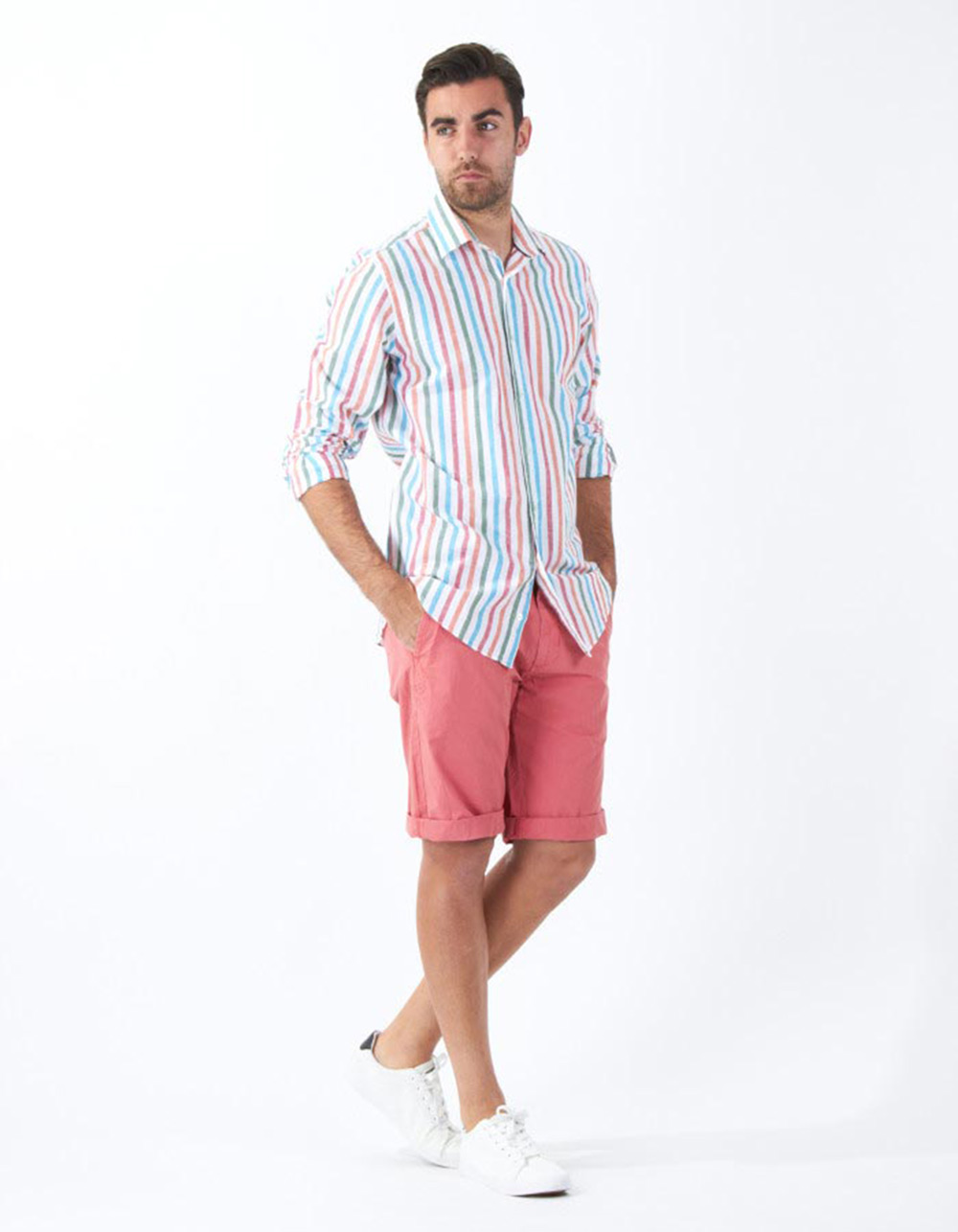 Multicolour striped shirt