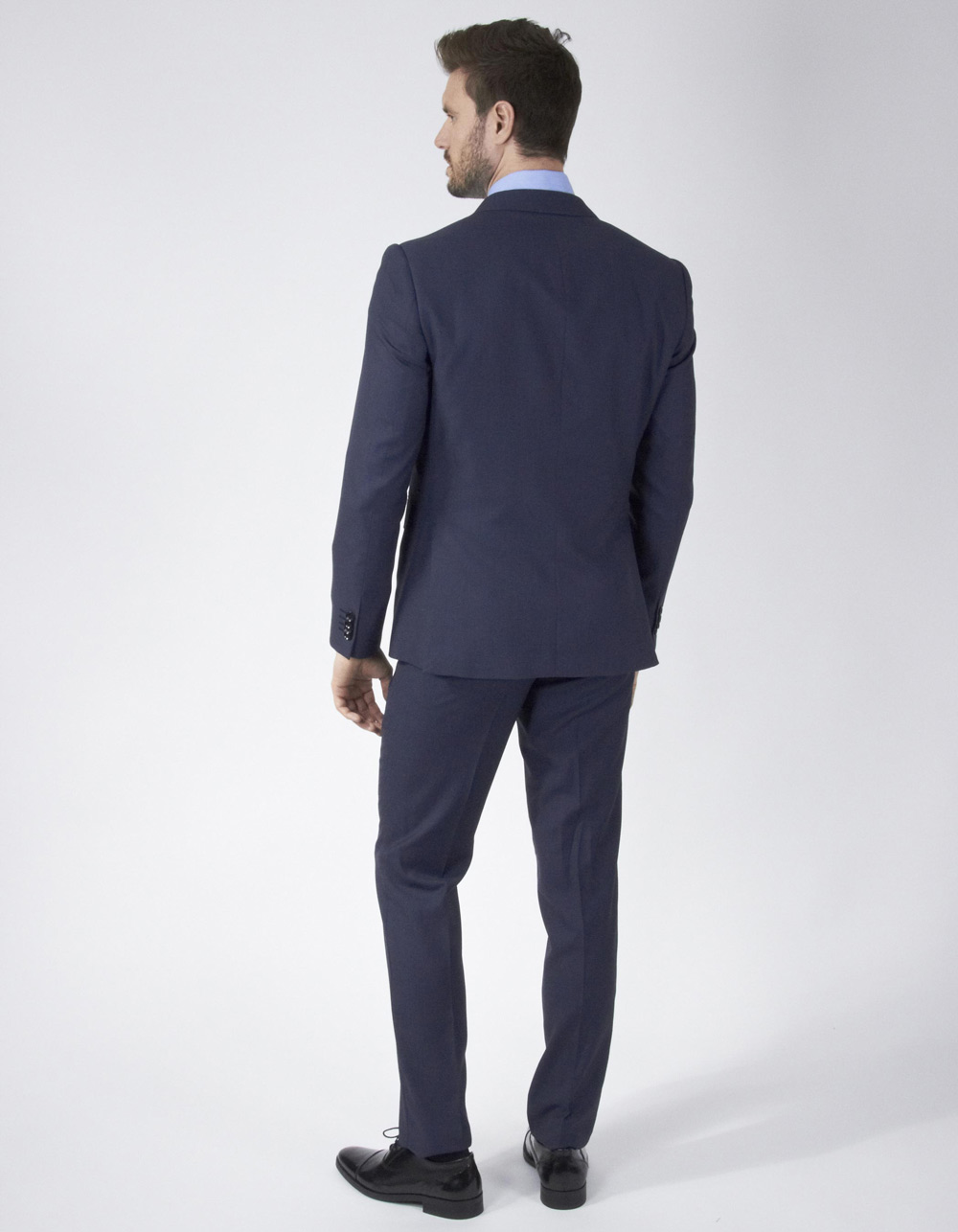 Dark blue plain suit - Backside