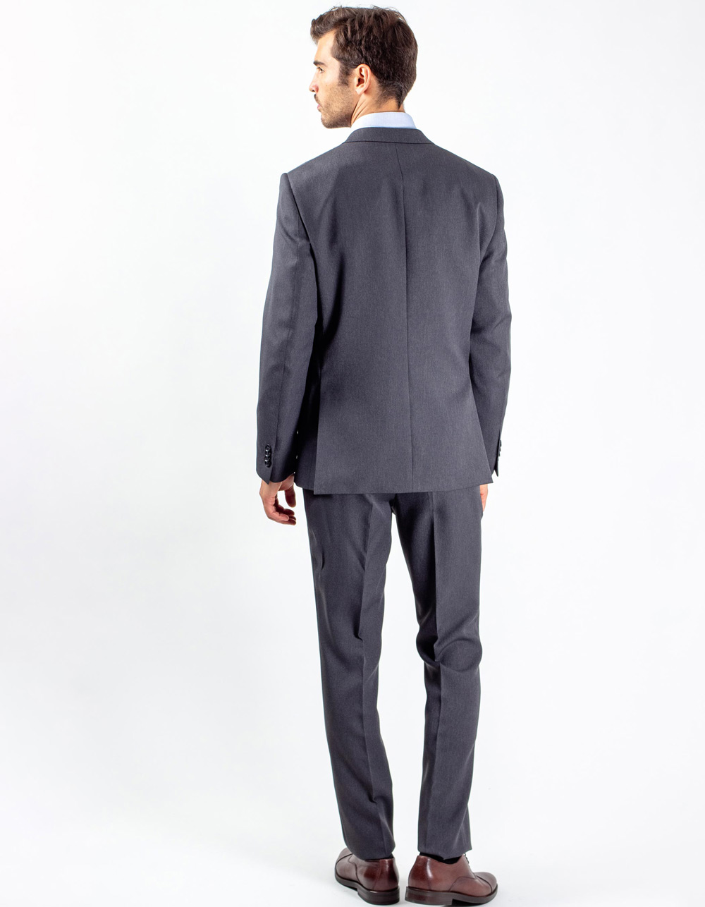 Dark grey plain suit - Backside