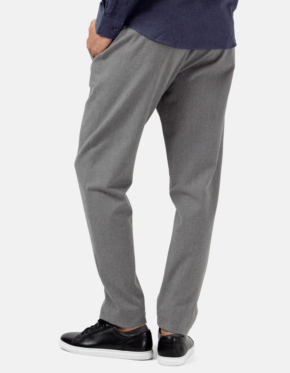 Light grey trousers with darts and wool - Backside