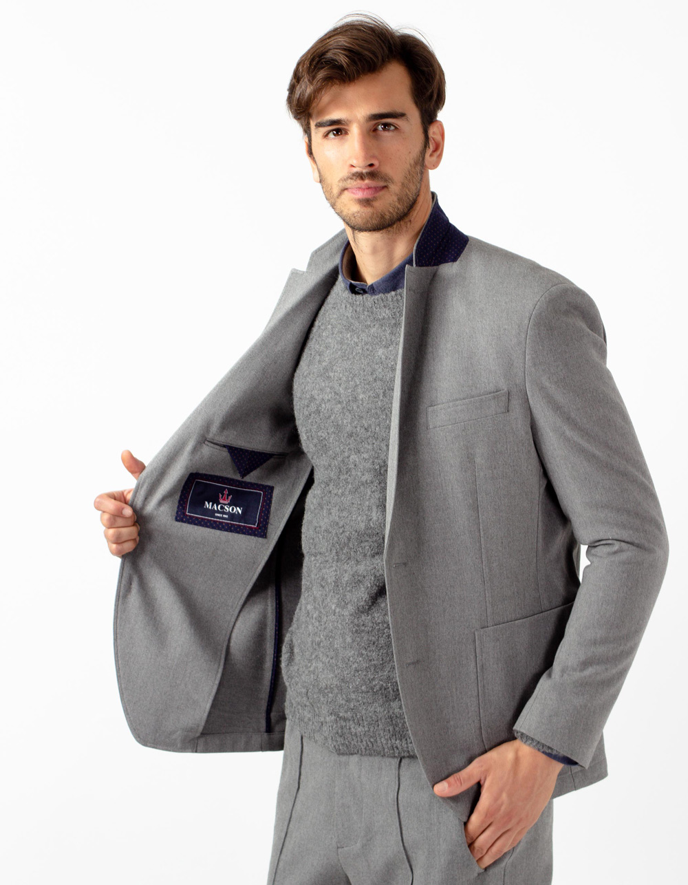Grey plain blazer