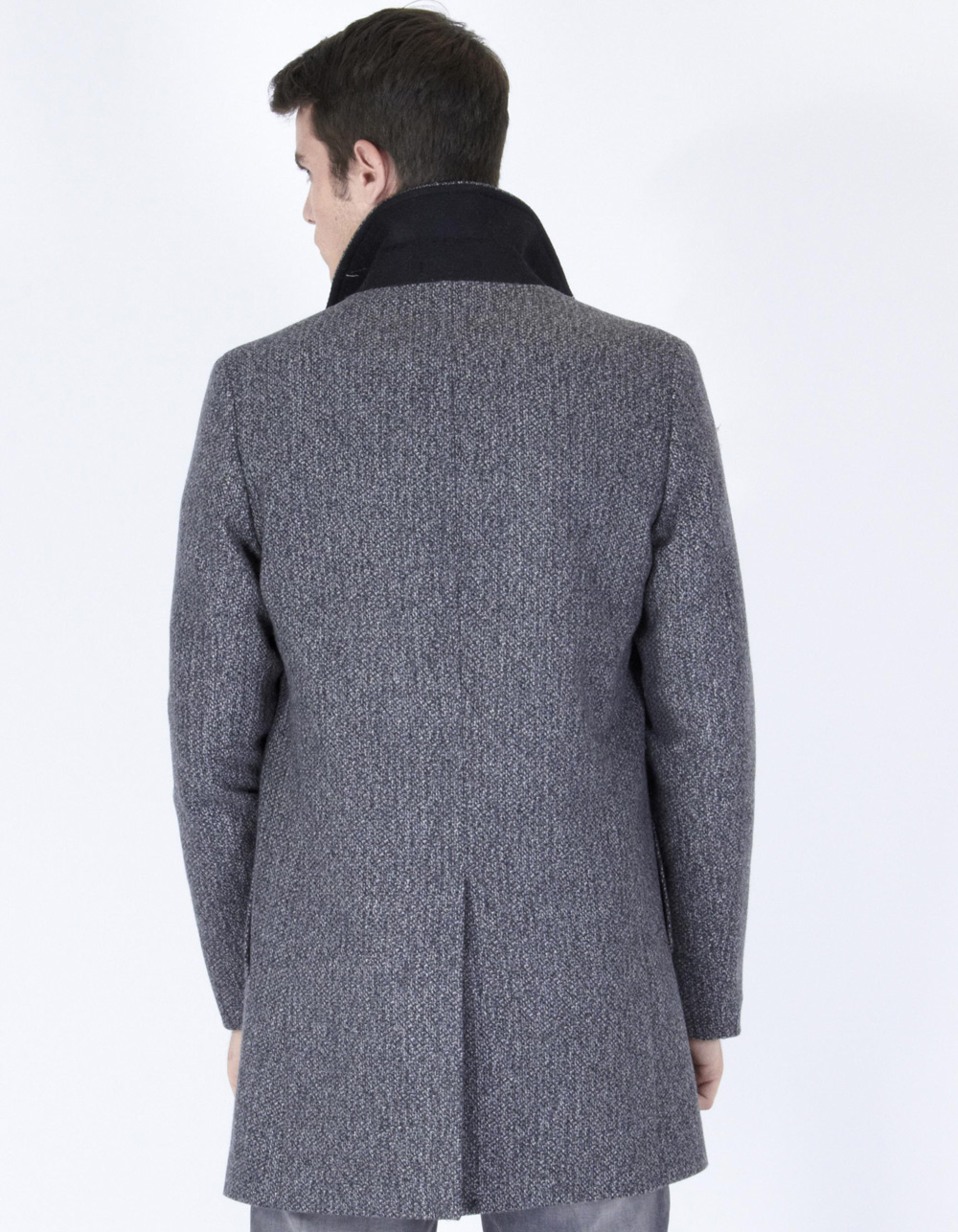 Mottled long trench - Backside