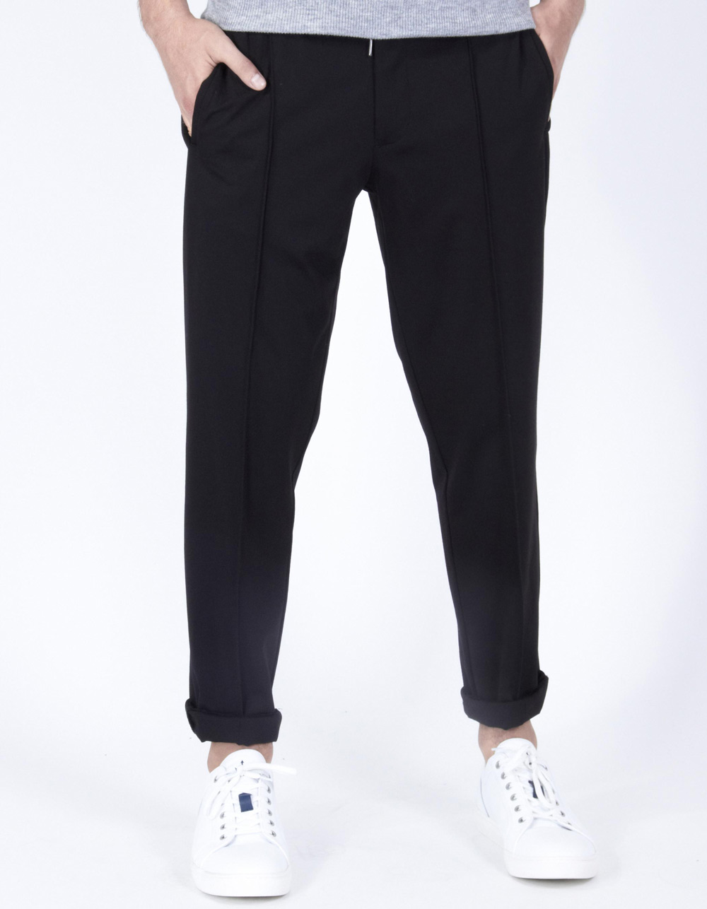 Black trousers with darts