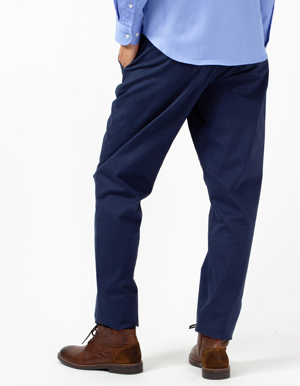 Blue trousers with darts - Backside