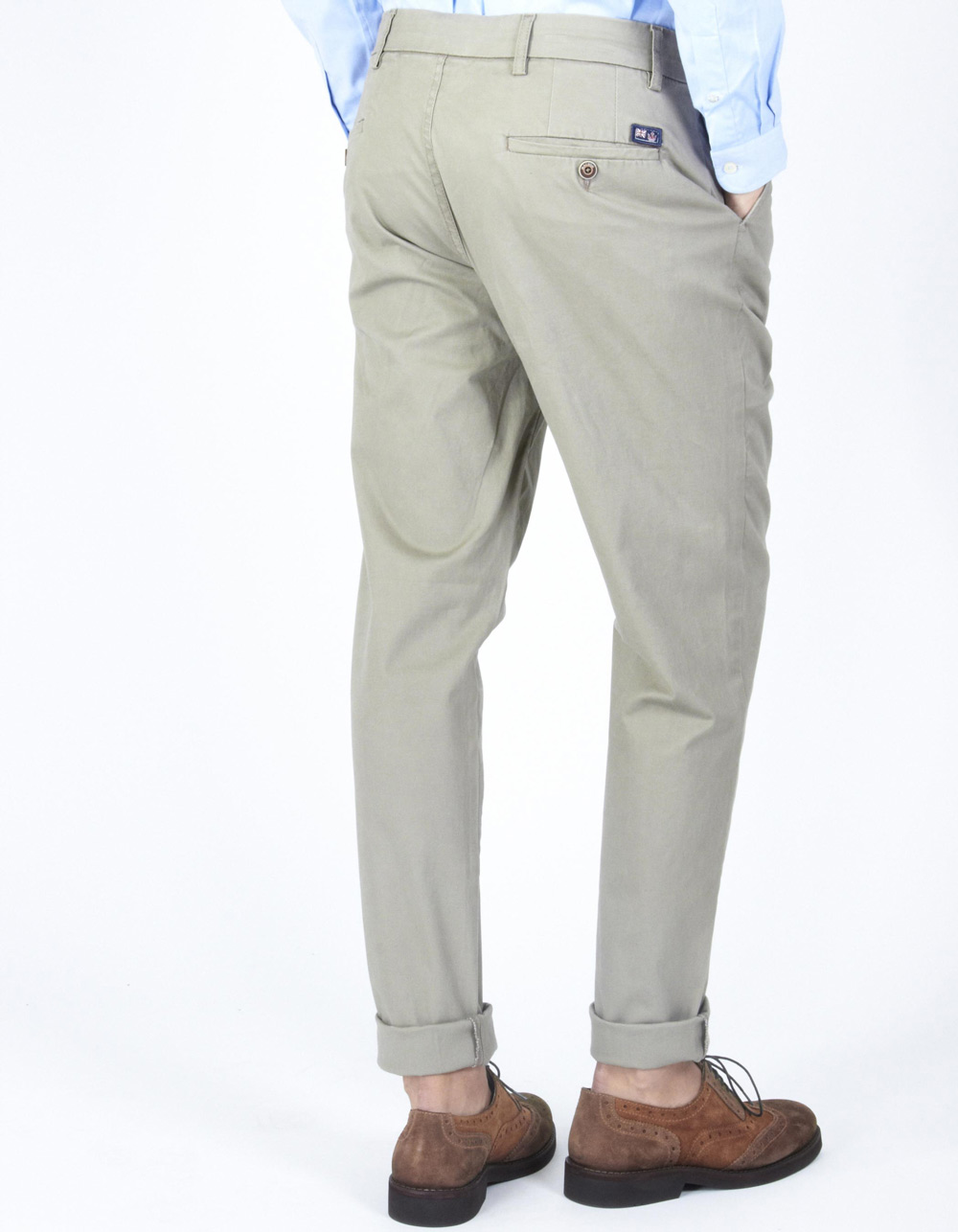 Beige trousers with darts - Backside