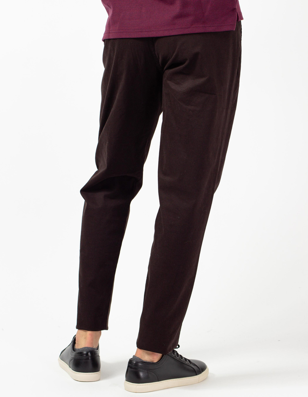 Black trousers with darts - Backside