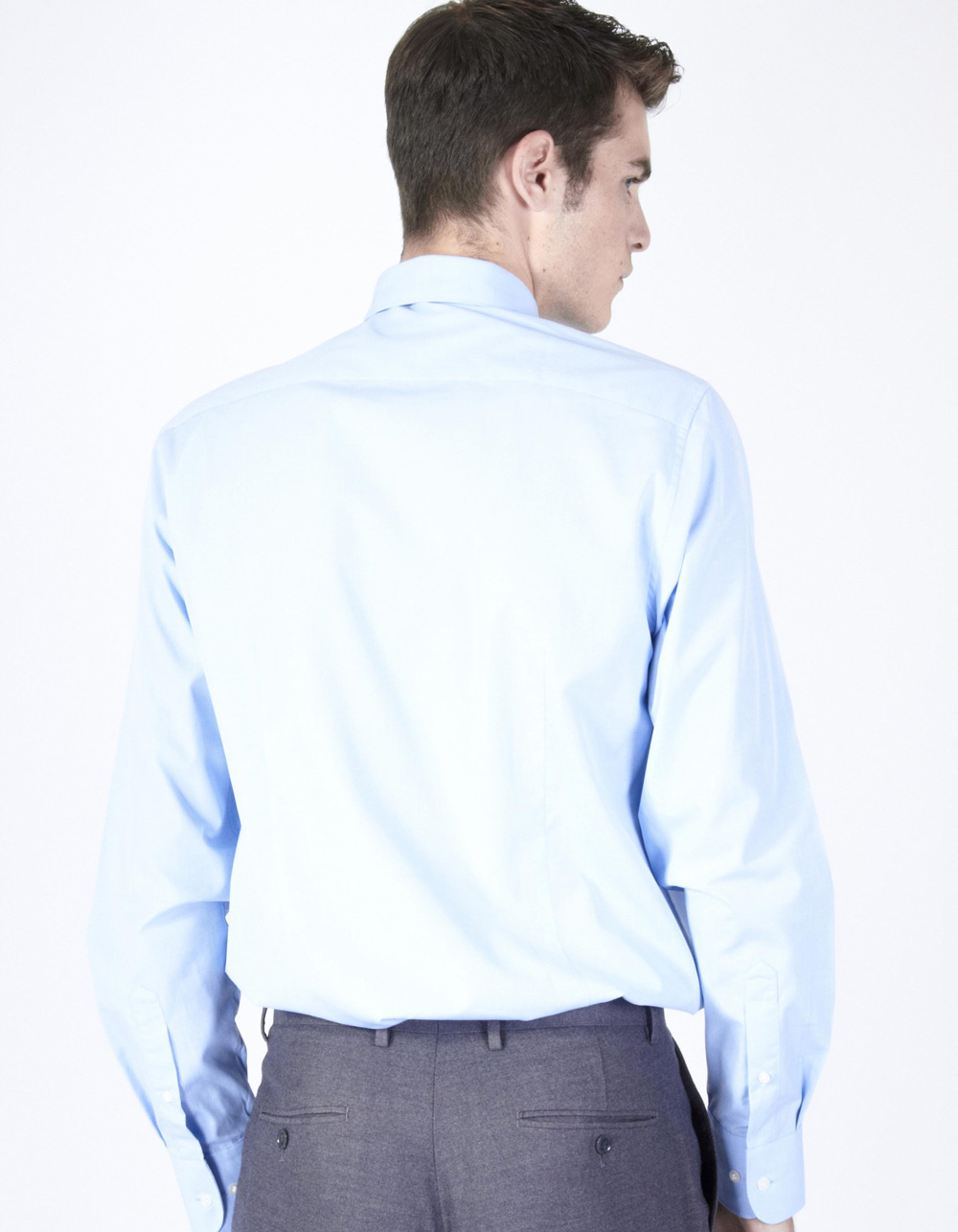 Light blue fil à fil shirt - Backside