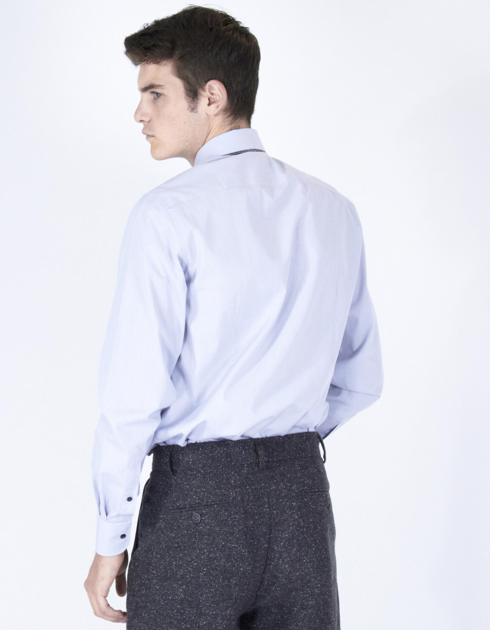 Grey poplin shirt - Backside