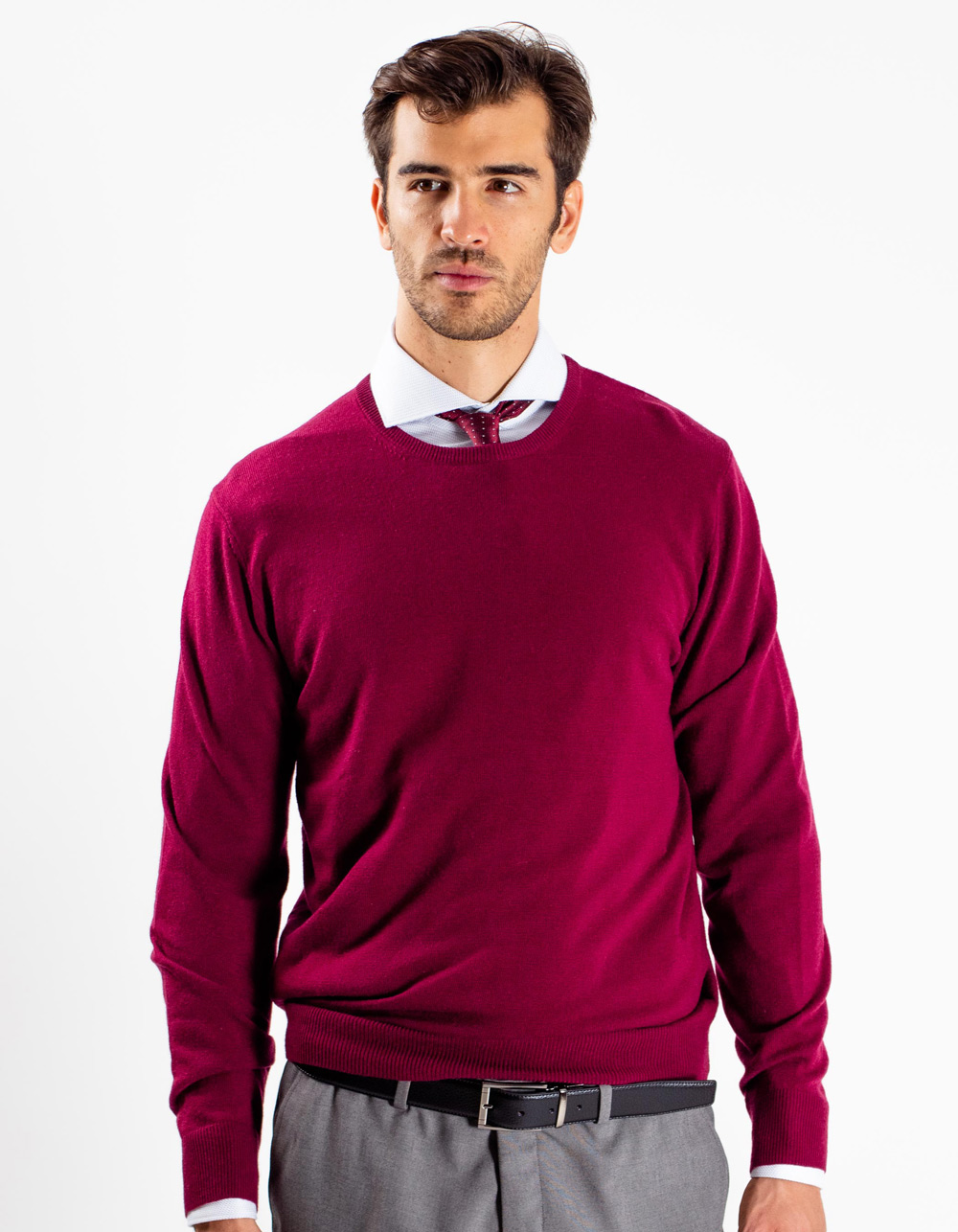 Maroon crew neck sweater