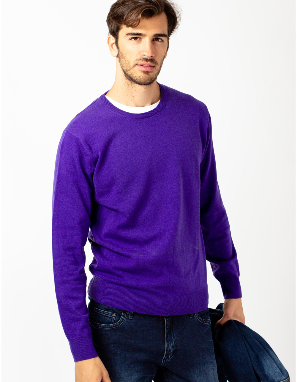 Purple crew neck sweater