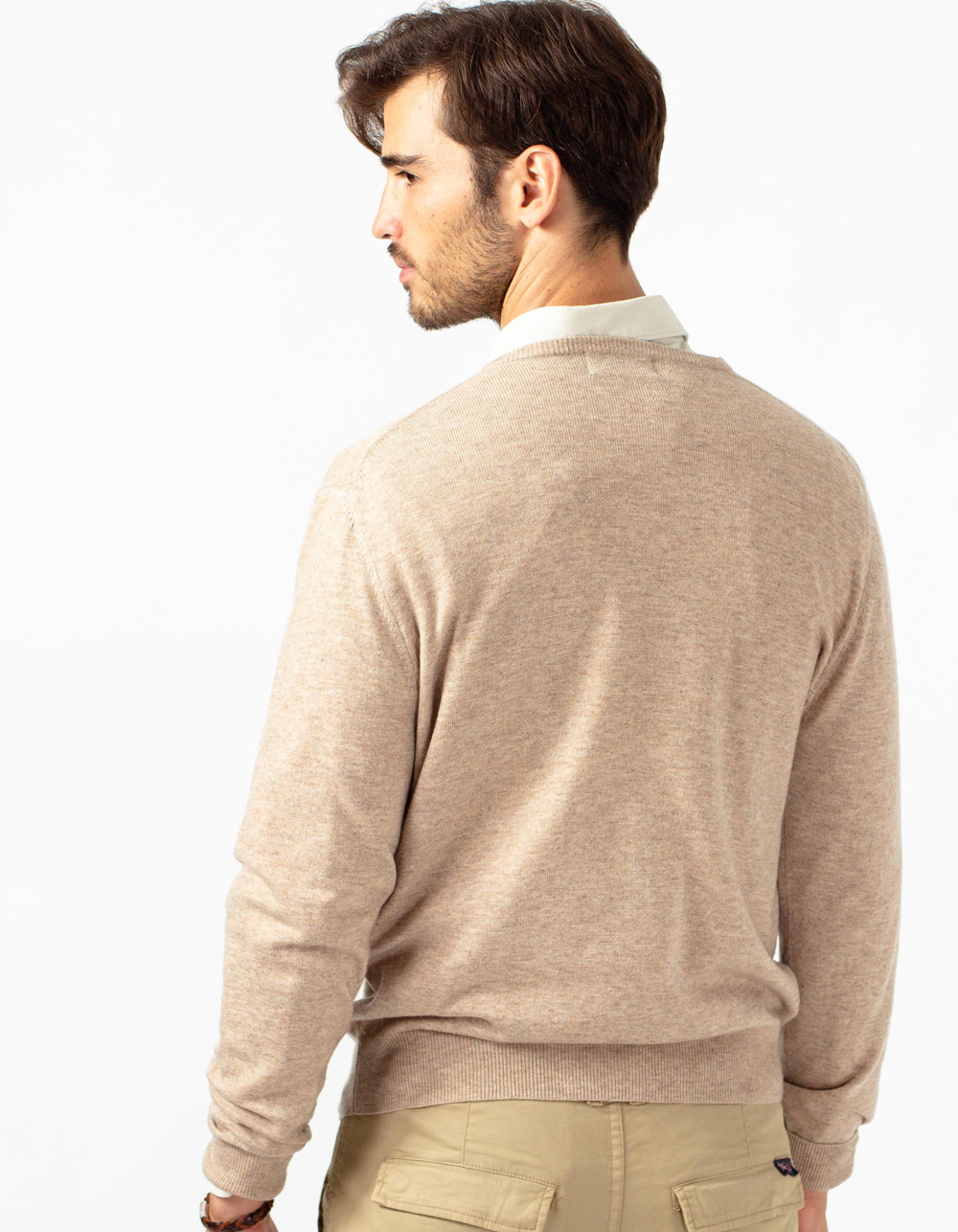 Jersey camel de cuello redondo - Backside