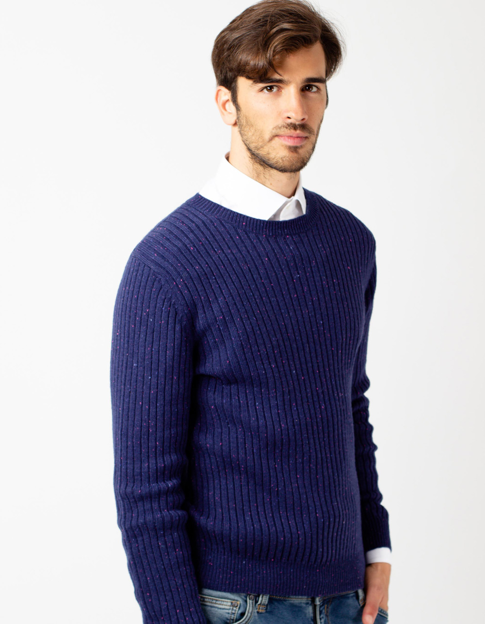 Navy lambswool sweater