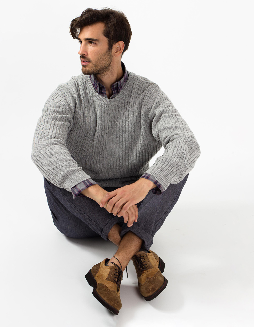 Grey lambswool sweater