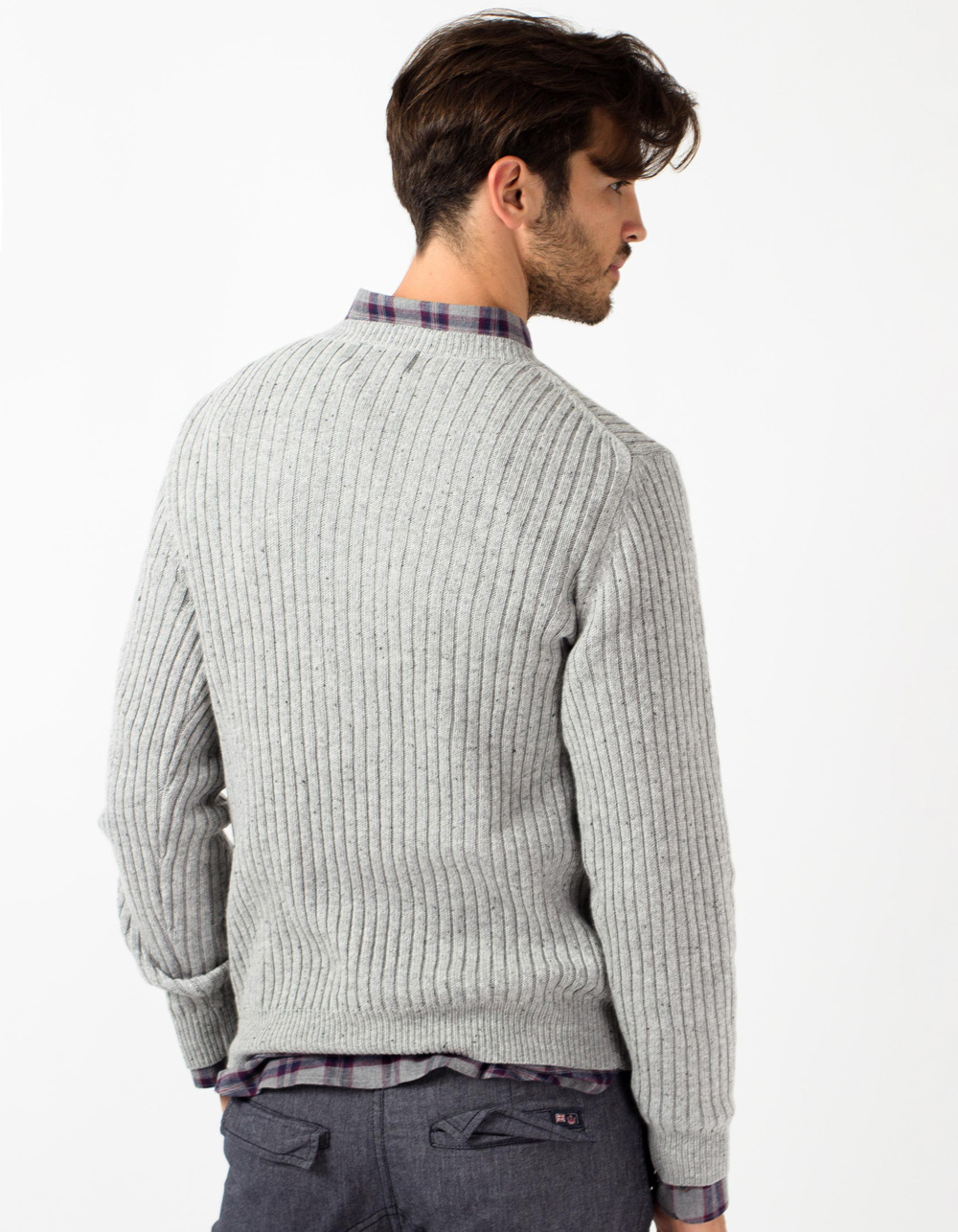 Jersey de lana gris - Backside