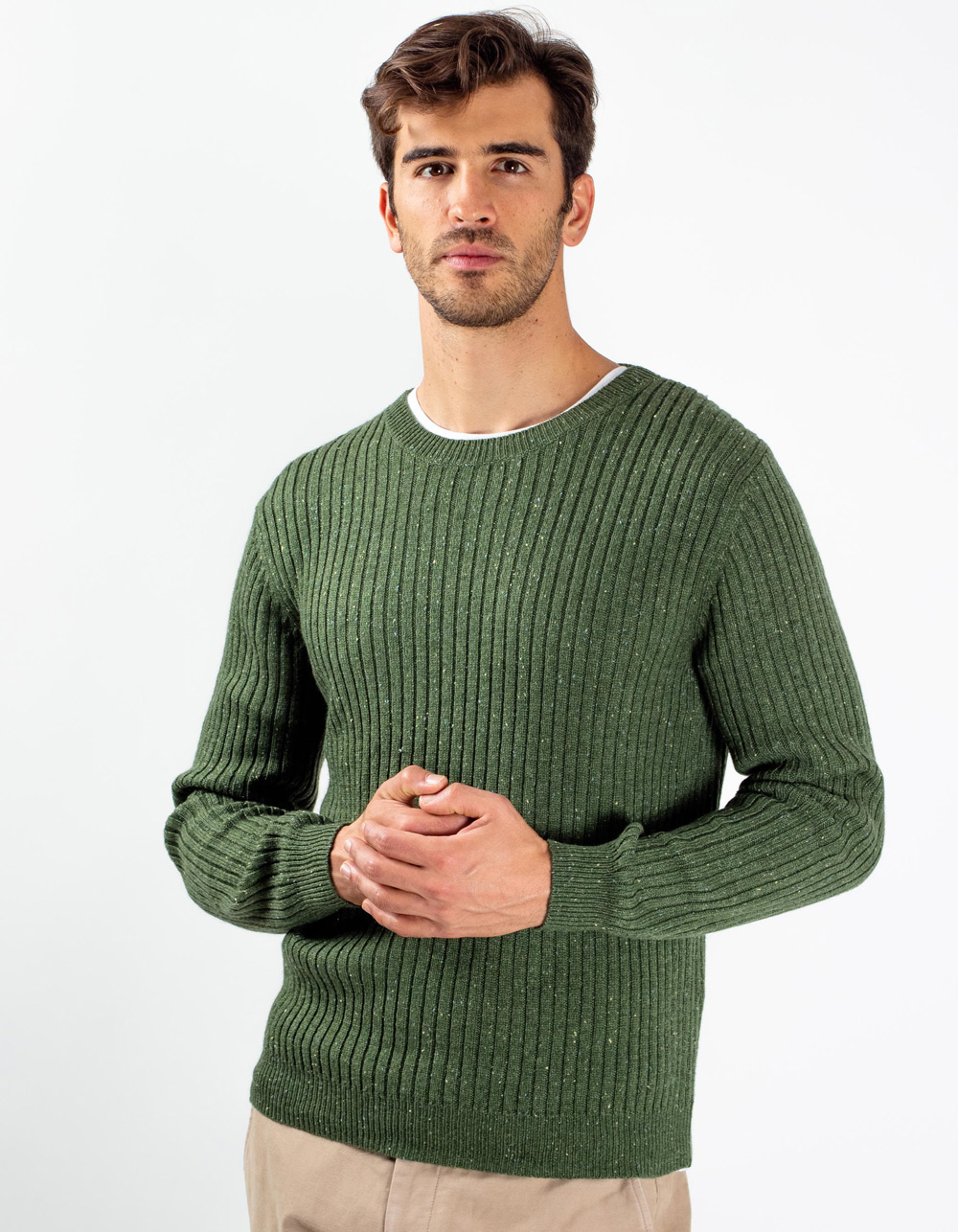 Green lambswool sweater