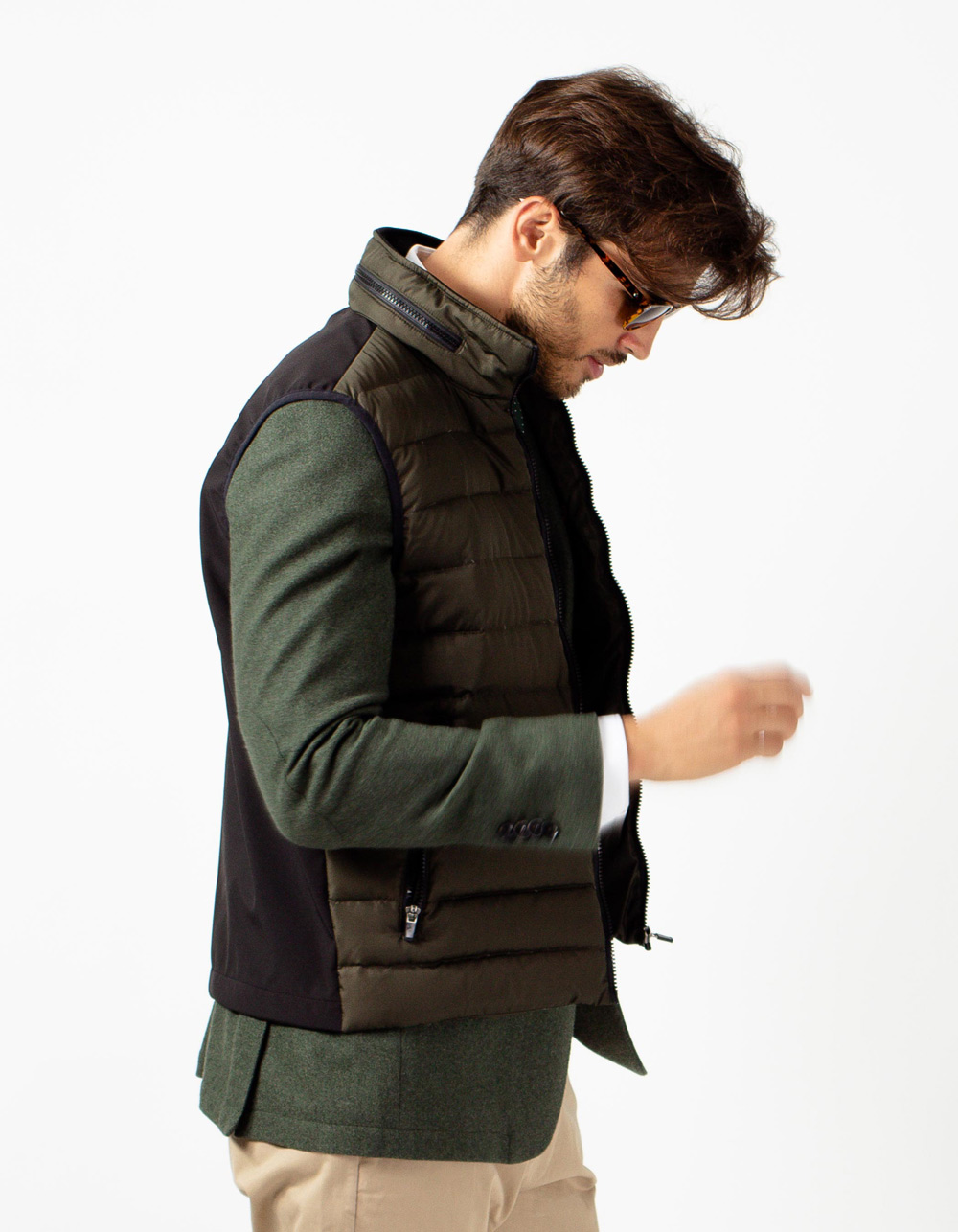 Verde quilted vest - Backside