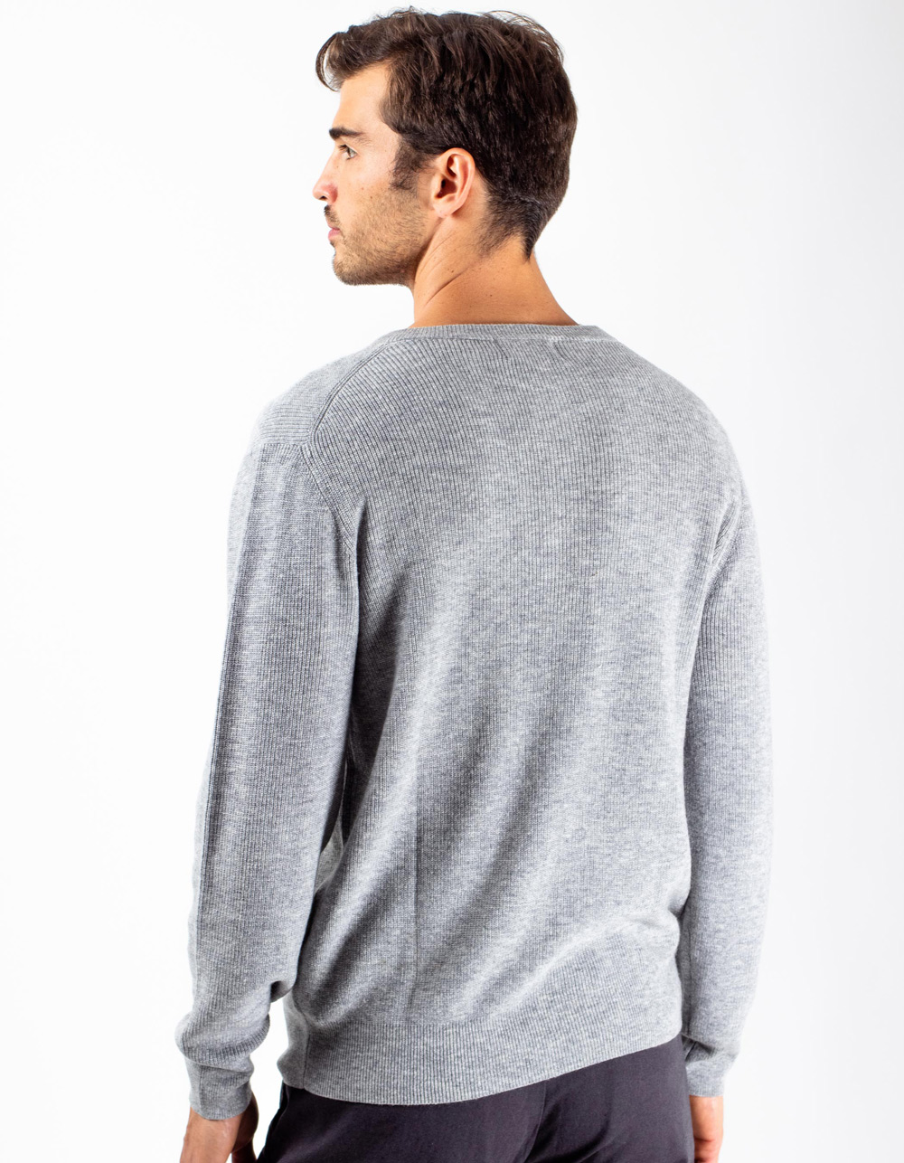 Jersey gris con botones - Backside