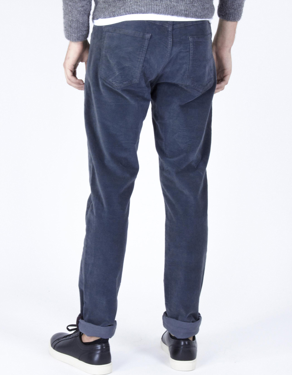 Charcoal grey micro-structure jeans - Backside