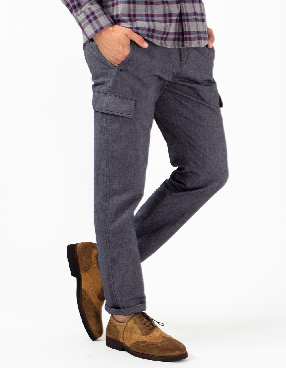 Dark navy cargo trousers