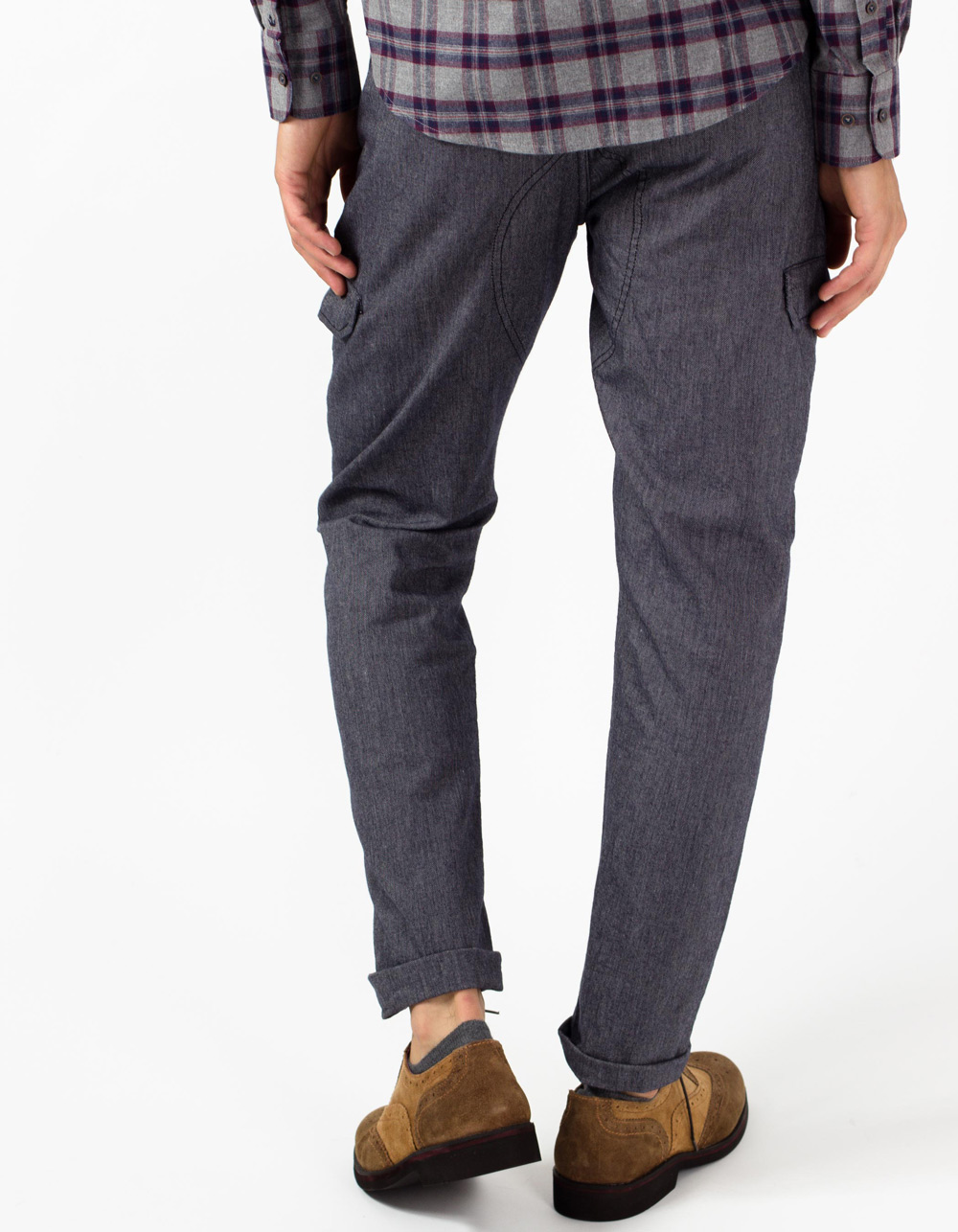 Dark navy cargo trousers - Backside